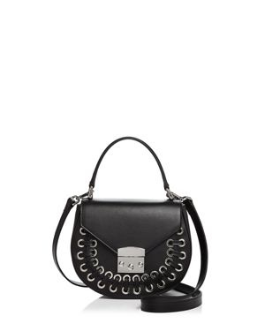 Aqua Stitched Leather Saddle Bag - 100% Exclusive 2688303