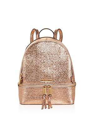Michael Michael Kors Rhea Zip Metallic Medium Leather Backpack - 100% Exclusive-Handbags