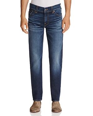 True Religion Geno Straight Fit Jeans in Blue Cascade