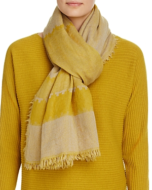 Eileen Fisher Stripe Wool Scarf at Bloomingdale's