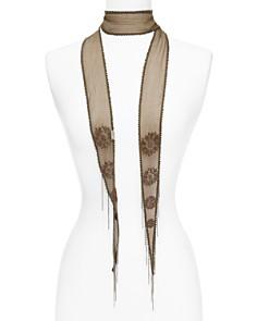 Chan Luu Snowflake Embroidered Skinny Scarf - Bloomingdale's_0