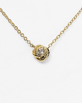 kate spade new york - Mini Knot Pendant Necklace, 16""