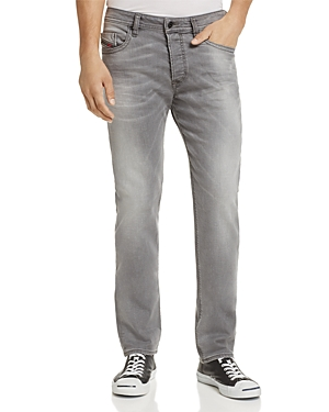 Diesel Buster Slim Straight Fit Jeans in Grey Wash