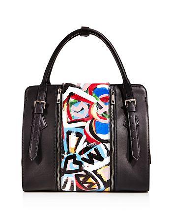 Love x Fashion x Art - Floral Large Leather Satchel