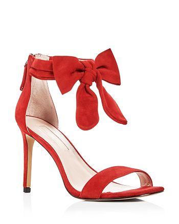 Avec Les Filles - Women's Jax Suede Bow High-Heel Sandals