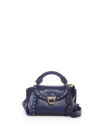 eb33b93cba4 Salvatore Ferragamo Sofia Soft Studded Small Leather Satchel ...
