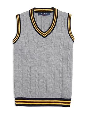 Brooks Brothers Boys Collegiate CableKnit Sweater Vest  Big Kid