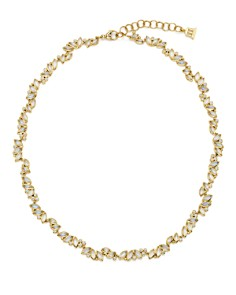"""Temple St. Clair - 18K Yellow Gold Moonstone and Diamond Cluster Necklace, 18"""""""