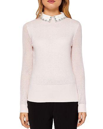 Ted Baker - Braydey Embellished Collar Sweater