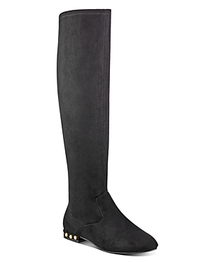 Ivanka Trump Freeda Embellished Faux Suede Tall Boots