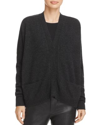 SNAP FRONT CASHMERE CARDIGAN