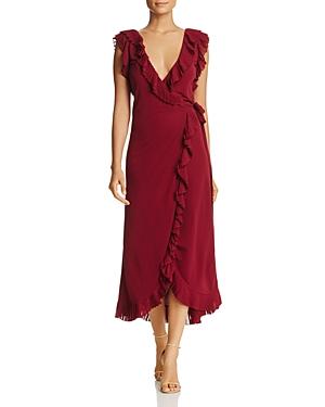 Tory Burch Whitney Pleated Ruffle Wrap Dress
