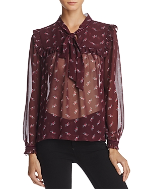 Beltaine Kate Sheer Tie-Neck Blouse