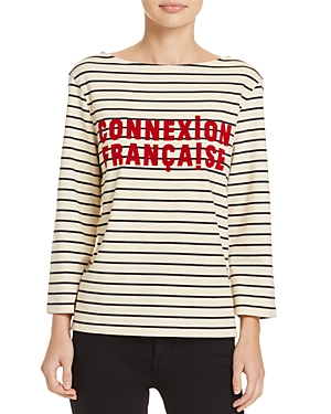 French Connection Connection Francaise Striped Tee