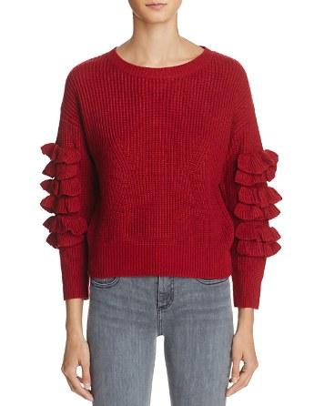 $Molly Bracken Ruffle Sweater - Bloomingdale's