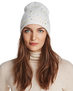 AQUA Floral Knit Hat - 100% Exclusive - Bloomingdale's_0
