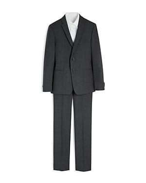 Michael Kors Boys Sharkskin Suit Jacket  Pants Set  Big Kid