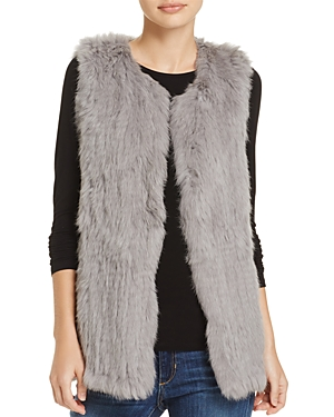 525 America Rabbit Fur Long Vest - 100% Exclusive