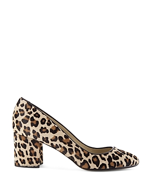 Hobbs London Sarah Calf Hair Mid Block Heel Court Pumps