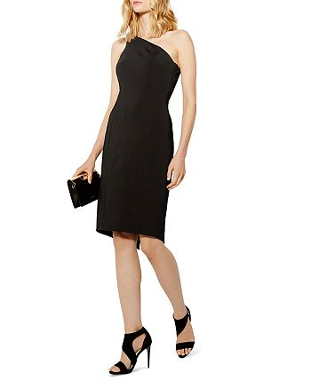 KAREN MILLEN - One-Shoulder Pencil Dress