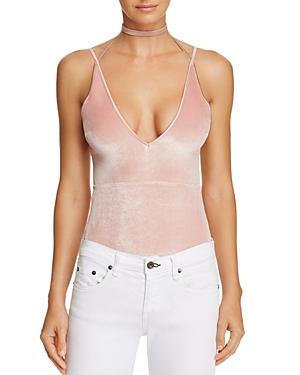 Kendall and Kylie Velvet Plunge Bodysuit