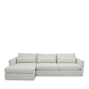 Slim arms and plush boxed back cushions make this sumptuous sectional from our Artisan Collection a cozy way to refresh your living room.