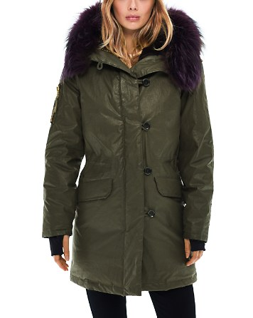 $SAM. Double Downtown Fur Trim Down Jacket - 100% Exclusive - Bloomingdale's