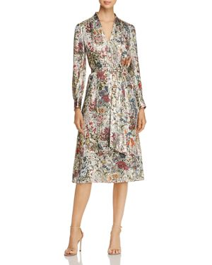 Tory Burch Vanessa Metallic Floral Silk Dress