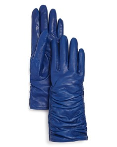 Bloomingdale's - Leather Glove with Ruching - 100% Exclusive