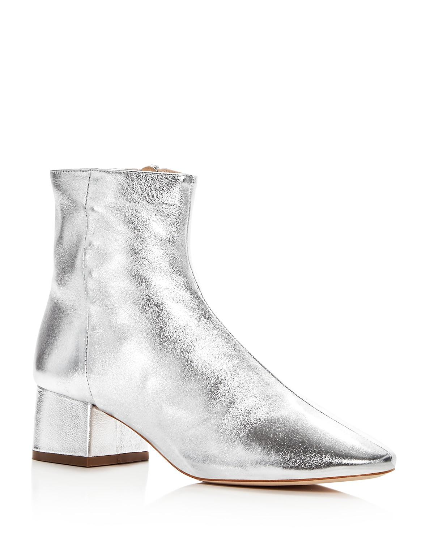 Loeffler Randall Women's Carter Leather Block Heel Booties blCp6m