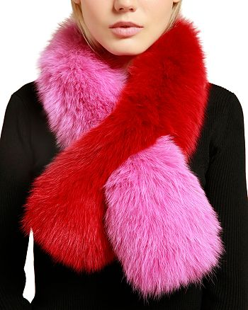 Charlotte Simone - Polly Pop Fox Fur Scarf