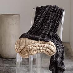 Michael Aram - Chunky Rib Knit Throw