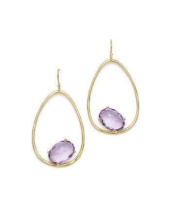 IPPOLITA - 18K Yellow Gold Rock Candy® Amethyst Drop Earrings