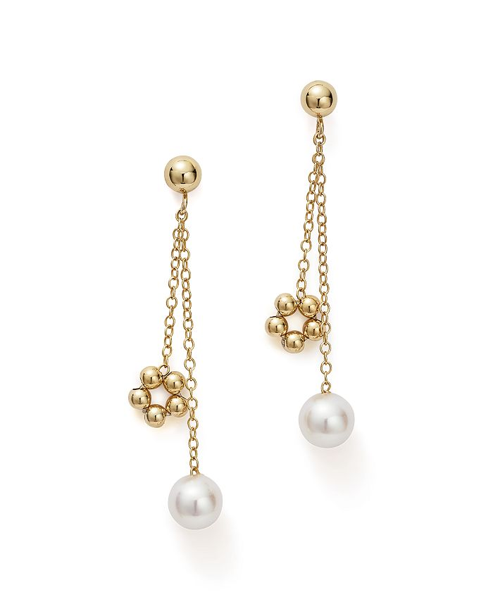 a72d9d01e3d Bloomingdale s - Cultured Freshwater Pearl   Beaded Dangle Charm Earrings  in 14K Yellow Gold - 100