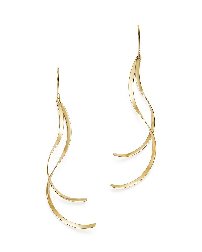 Bloomingdale's - 14K Yellow Gold Flat Twisted Drop Earrings - 100% Exclusive