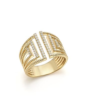 Bloomingdale's - Diamond Multi Row Open Ring in 14K Yellow Gold, .25 ct. t.w. - 100% Exclusive