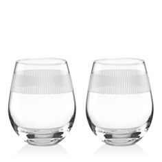 kate spade new york York Avenue Stemless Wine Glass, Set of 2 - Bloomingdale's_0