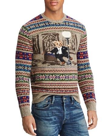 $Polo Ralph Lauren Bear Isle Crewneck Sweater - Bloomingdale's