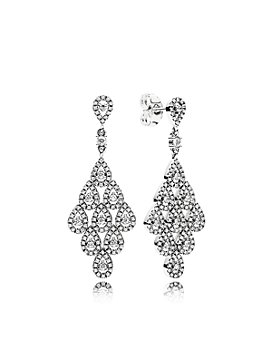 Pandora - Sterling Silver & Cubic Zirconia Cascading Glamour Earrings