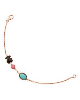 TOUS - Onyx, Rhodonite & Amazonite Bracelet