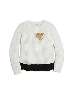 Design History Girls' Heart Patch Sweater - Little Kid - Bloomingdale's_0