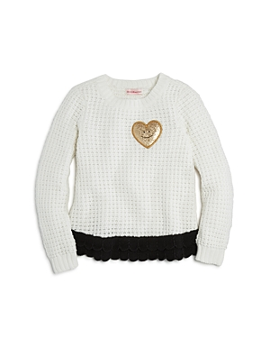 Design History Girls Heart Patch Sweater  Little Kid