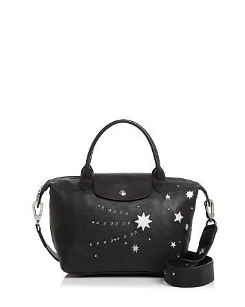 $Longchamp Le Pliage Cuir Etoile Star Leather Satchel - 100% Exclusive - Bloomingdale's