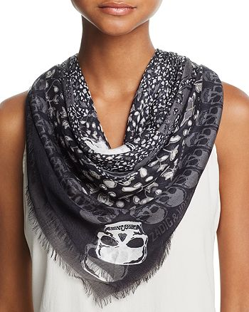 032e3a832be Zadig & Voltaire Kerry Skull Scarf   Bloomingdale's