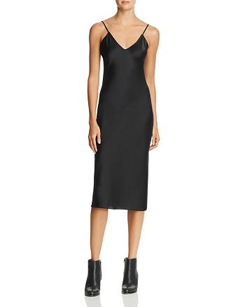 CAMI NYC - Raven Silk Midi Slip Dress