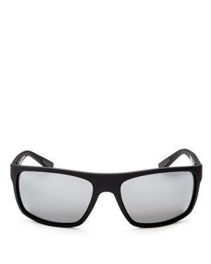 Maui Jim Byron Bay Polarized Mirrored Wrap Sunglasses, 62mm