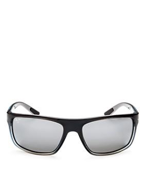 Maui Jim - Men's Byron Bay Polarized Mirrored Wrap Sunglasses, 62mm