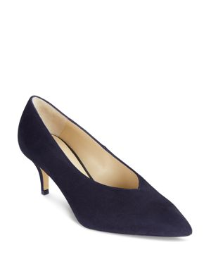 Hobbs London Women's Penelope Suede Pointed Toe Court Pumps
