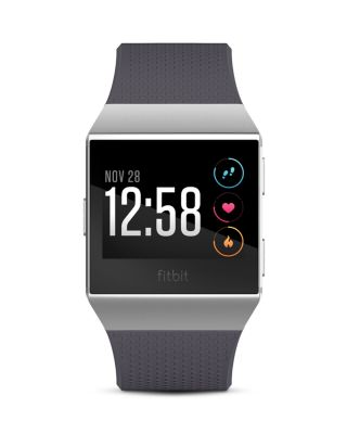 Unisex Ionic Blue-Gray Elastomer Strap Smart Watch 35X32Mm in Silver Gray