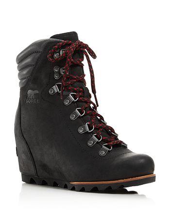 Sorel - Women's Waterproof Leather Conquest Wedge Booties